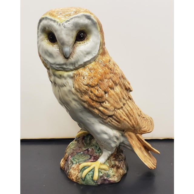 Circa 1960 English Beswick Pottery Barn Owl Figurine (#1046 For Sale In New Orleans - Image 6 of 6