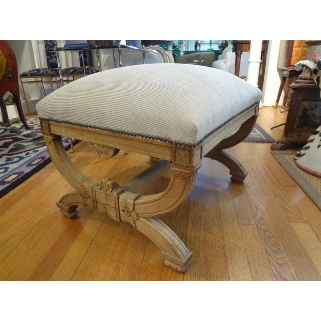 19th Century French Louis XVI Style Bench or Ottoman For Sale - Image 4 of 11