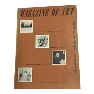 1949 Magazine of Art For Sale