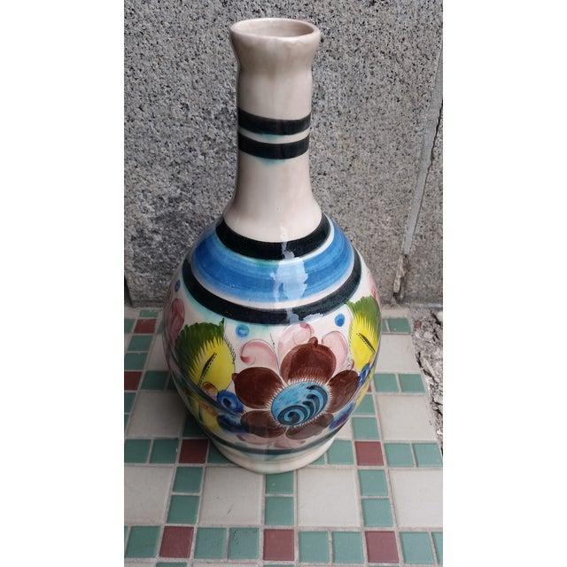 Folk Art 20th Century Vintage Tonala Mexican Water Jug Vase For Sale - Image 3 of 7