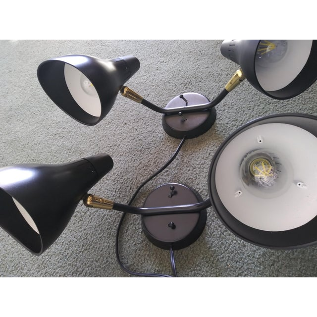 Industrial 1950s Mid-Century Modern Gerald Thurston for Lightolier Wall Sconces - a Pair For Sale - Image 3 of 13