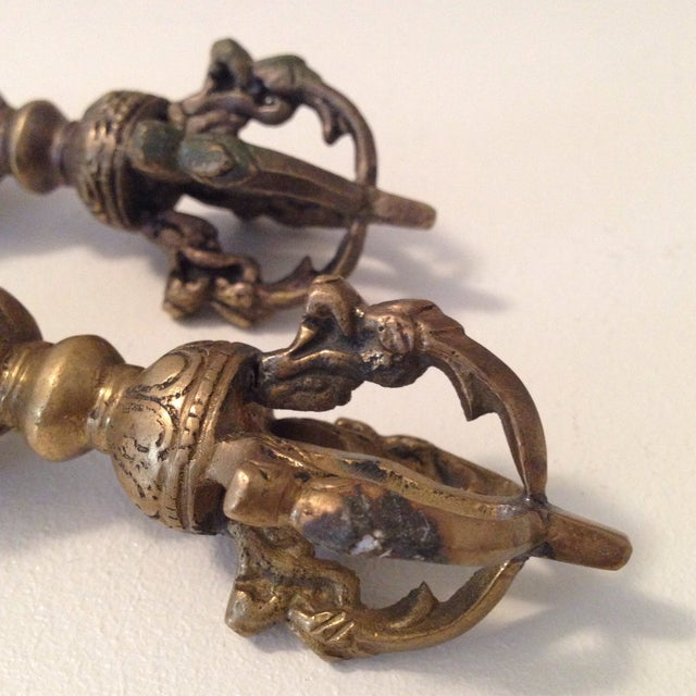 Brass Cambodian Decor - A Pair - Image 4 of 5