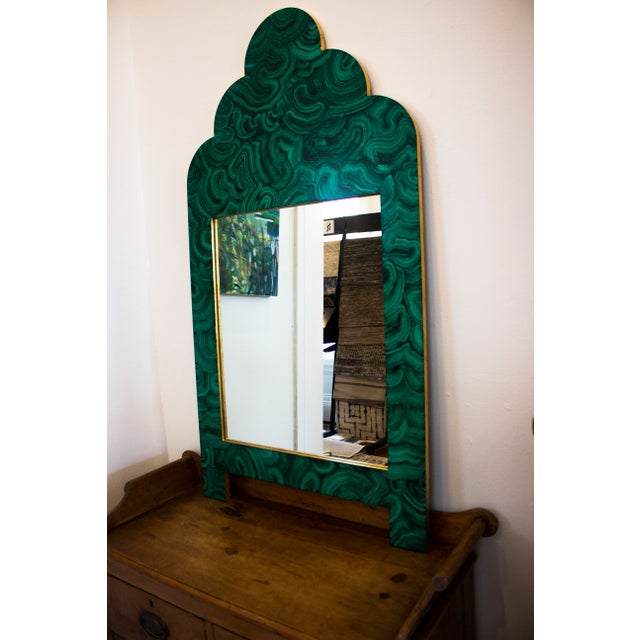 Green Malachite Wall Mirror For Sale In New Orleans - Image 6 of 13
