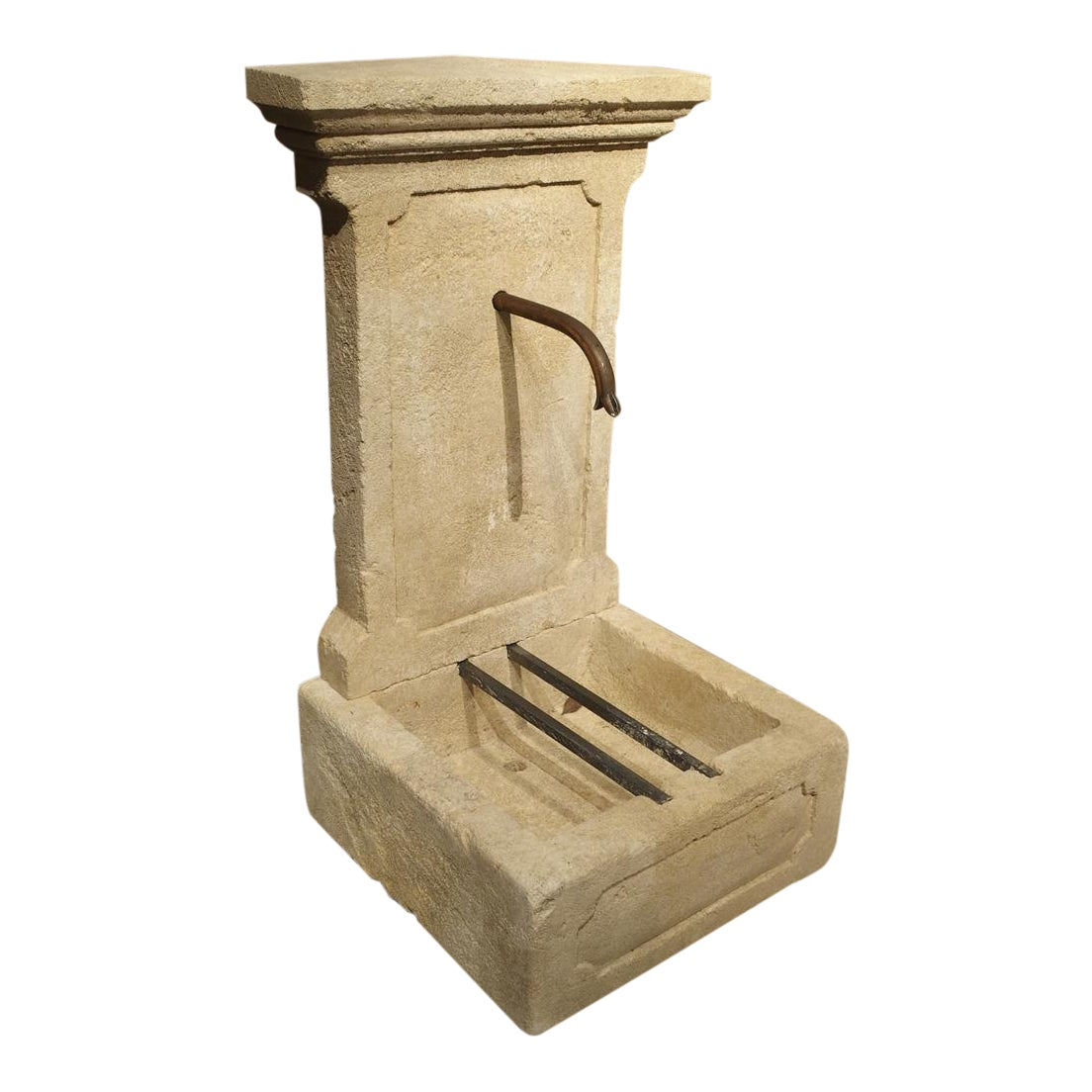 Superb Small Limestone Wall Fountain from Provence, France | DECASO