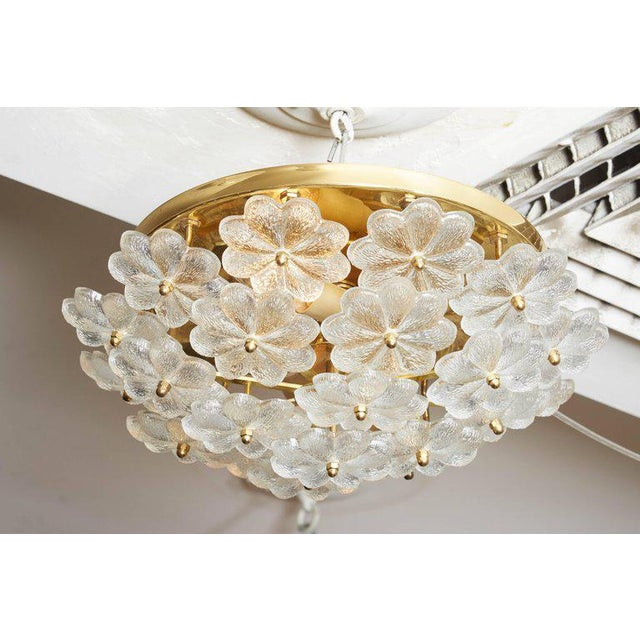 Vintage Daisy Floral Glass Flush Mount For Sale - Image 9 of 10