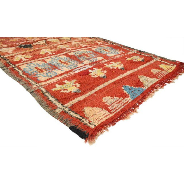 Contemporary Vintage Berber Moroccan Rug With Tribal Style, 4'10 X 7'10 For Sale - Image 3 of 4
