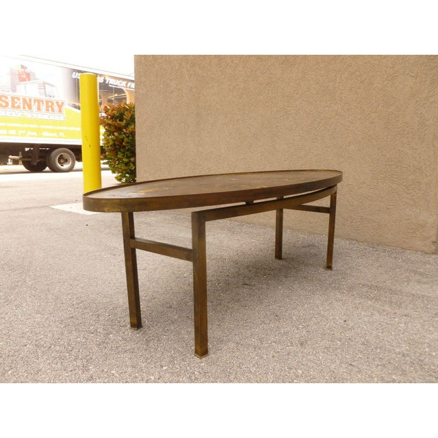 Asian 1960's Vintage Philip and Kelvin Laverne Chinese Design Bronze Coffee Table For Sale - Image 3 of 13