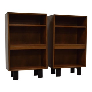 George Nelson for Herman Miller Walnut Nightstands- a Pair