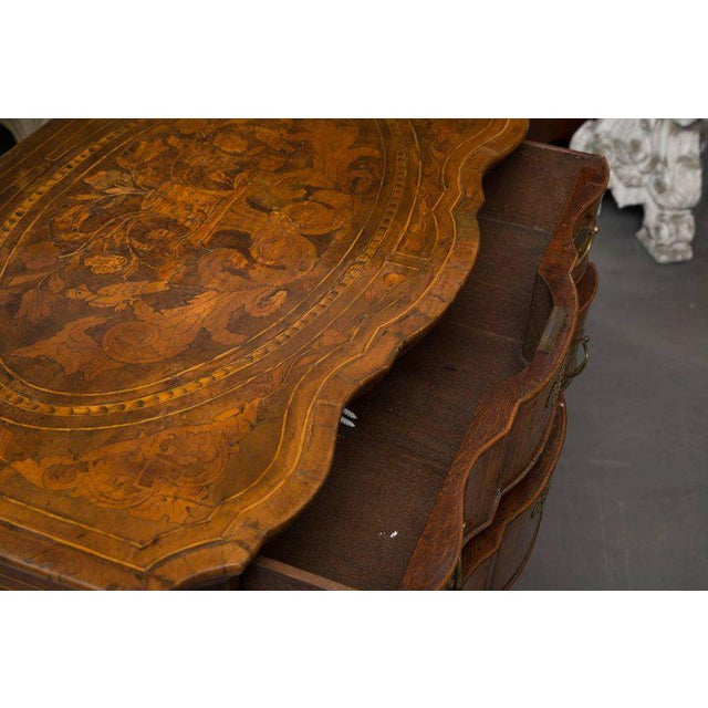 18th Century Dutch Walut Marquetry Chest - Image 3 of 11
