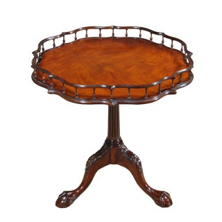 Chippendale Mahogany Gallery Table For Sale