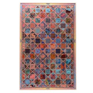 Abstract Reverse Painted Plexiglass Artwork For Sale