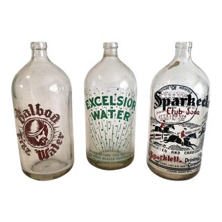 Group of Seltzer Bottles - Set of 3 For Sale