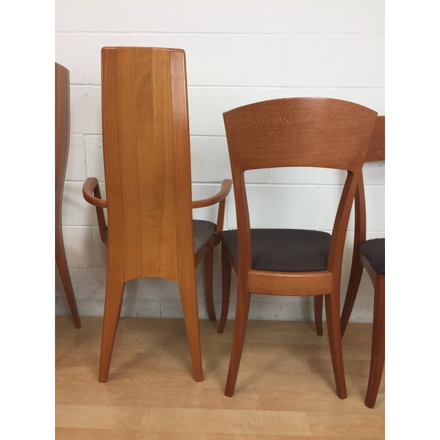 A. Sibau Italian Mid-Century Modern Dining Chairs- Set of 6 For Sale - Image 4 of 11