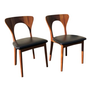 """Mid Century """"Peter"""" Chairs by Koefoed Hornslet- A Pair For Sale"""