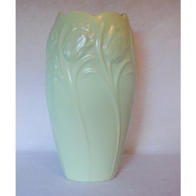 Art Deco Royal Haeger Mint Green Tulip Vase For Sale - Image 3 of 5
