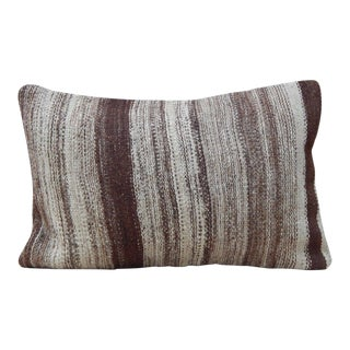 Vintage Turkish Kilim Lumbar Pillow For Sale
