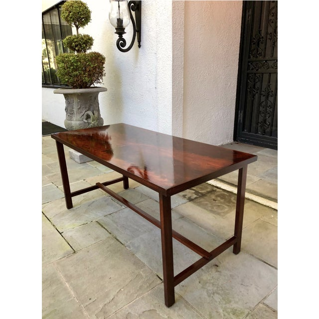 Transitional Custom Flame Mahogany Collapsible Dessert or Serving Table For Sale - Image 3 of 10