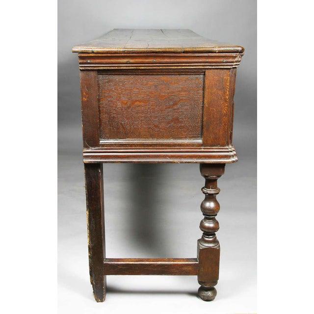 Jacobean Oak Dresser Base For Sale In Boston - Image 6 of 9