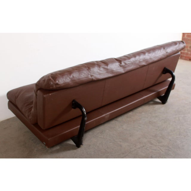 Brown DeSede Ds169 Brown Leather Convertible Sofa For Sale - Image 8 of 12