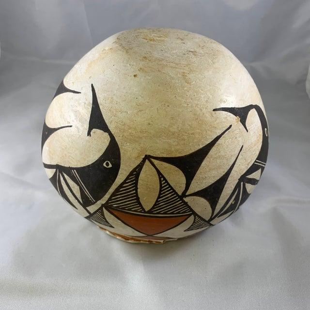 Southwestern Acoma Olla Polychrome Pottery For Sale - Image 9 of 11