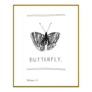 """Mini """"Butterfly"""" Giclee Art Print For Sale"""