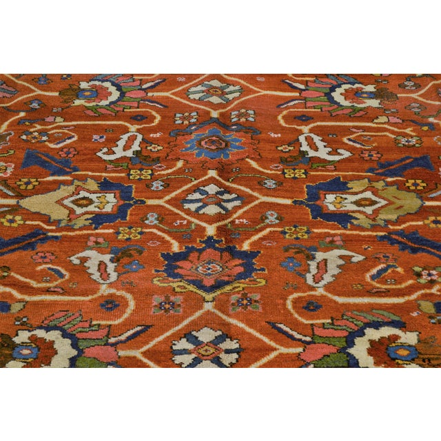 "Vintage Persian Mahal Rug - 7' x 10'4"" For Sale - Image 4 of 8"