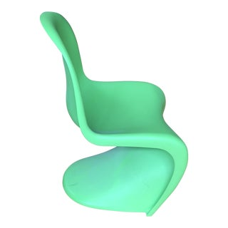 Vitra Lime Green Panton S Chair For Sale