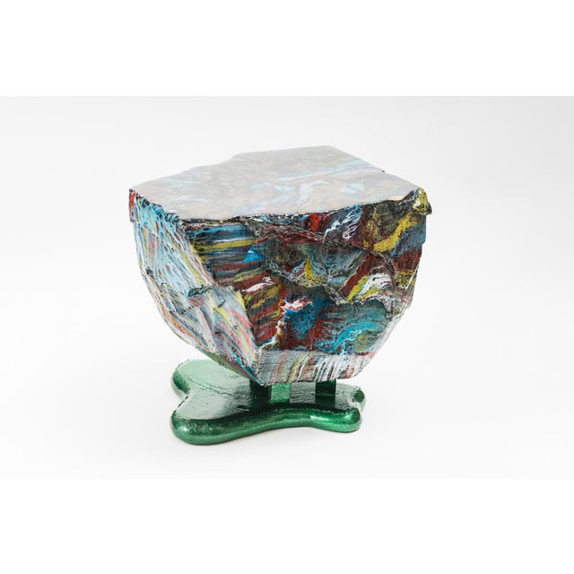 Resin Flow Series Hunk Table, Usa For Sale - Image 7 of 13