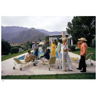 Slim Aarons Desert House Party Photograph Print For Sale