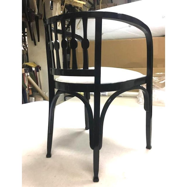 Late 19th Century Thonet Austrian Secession Set of One Couch and Two Chairs in Bentwood For Sale - Image 5 of 7