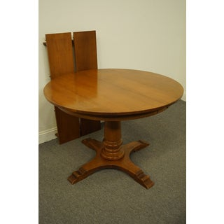 "Traditional Tell City Colonial Style 44"" Round Pedestal Dining Table Preview"