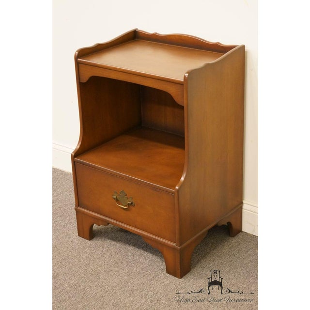 "Chippendale Kindel Grand Rapids Solid Cherry 20"" Nightstand For Sale - Image 3 of 13"