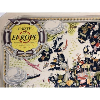Vintage Pictorial Map of Europe Angers France Preview