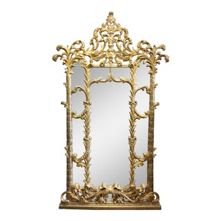 1990s Vintage Italian Gilded Pier Mirror For Sale