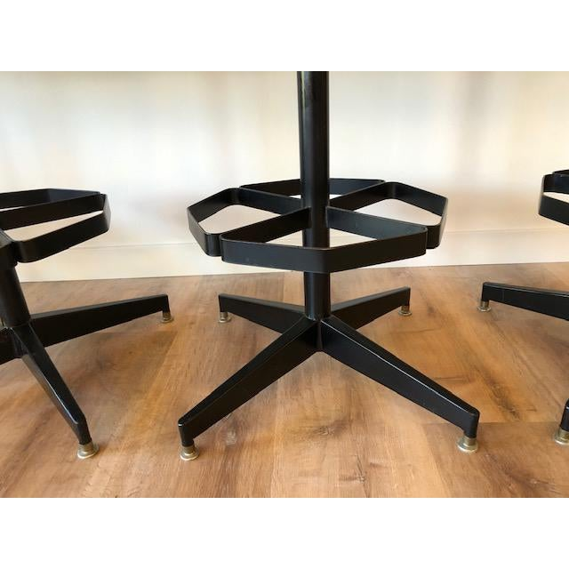 Industrial Modern Swivel Counter Stools by Cal-Style- Set of 4 For Sale In Seattle - Image 6 of 7