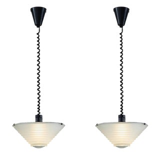 Two Angelo Mangiarotti Egina Pendants for Artemide, Italy, 1970s For Sale
