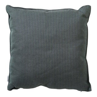 Cane-Line Link Scatter Cushion, Square, Dark Green For Sale