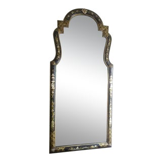 Labarge Chinoserie Style Hand Painted Full Length Wall Mirror For Sale