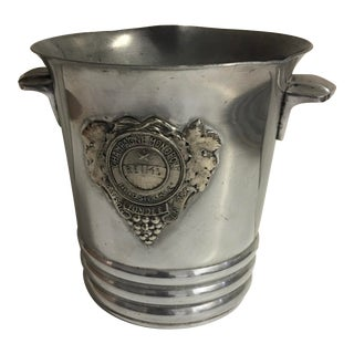 Vintage French Monopole Reims Aluminum Champagne Bucket For Sale