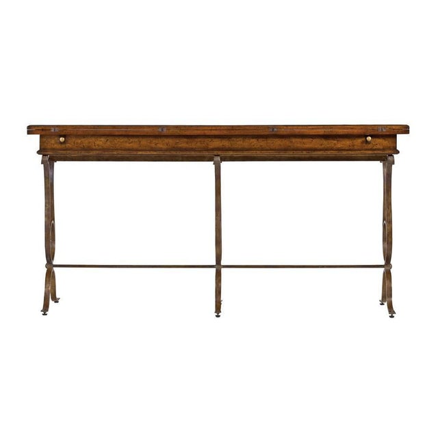 Brown Stanley Villette Flip Top Console Table For Sale - Image 8 of 8