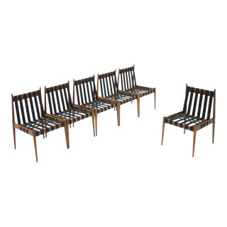 Large Set of 60 Dining Room Chairs in Oak by Egon Eiermann Se 121 Germany 1963 For Sale