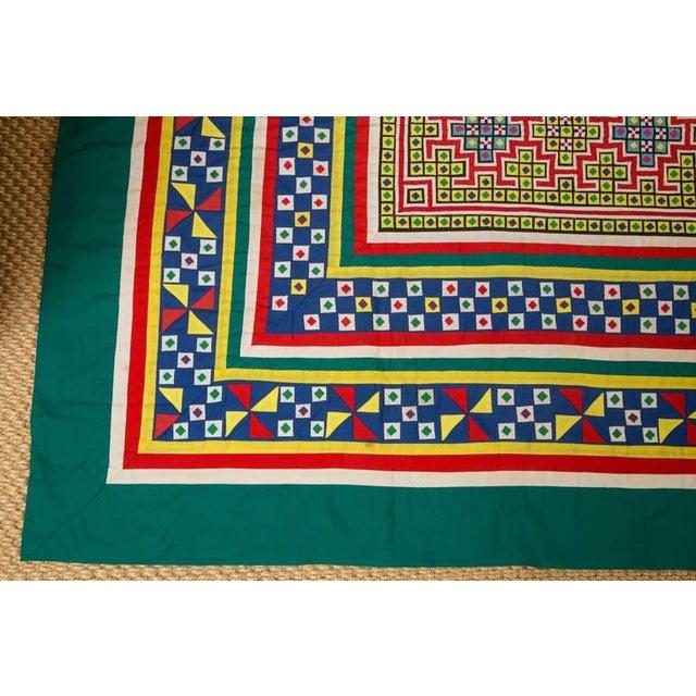 Handwoven Vietnamese Quilt - Image 2 of 4