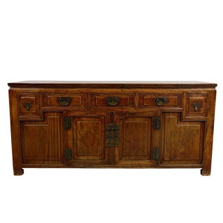 19th Century Chinese Carved Sideboard/Buffet Table For Sale