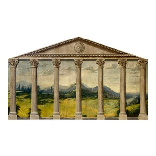 Vintage Maitland-Smith Hand Painted Roman Plaque For Sale