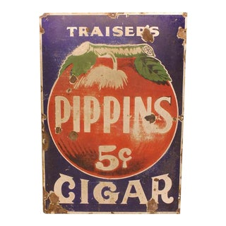 1930's Enamel Advertising Cigar Sign