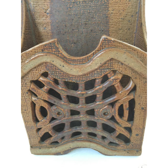 Mid Century Modern Artisan Ceramic Wall Pocket For Sale In Los Angeles - Image 6 of 7