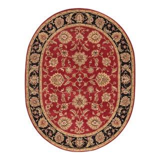 Jaipur Living Anthea Handmade Floral Red Black Oval Area Rug 8'X10' For Sale