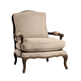 Linen Bergere Arm Chair