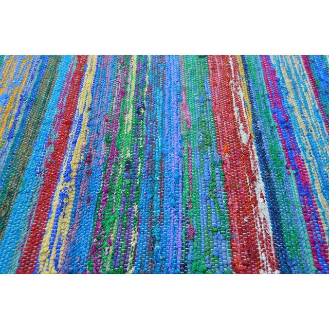 Striped Moroccan Boucherouite Rug - 3' X 2' - Image 3 of 3