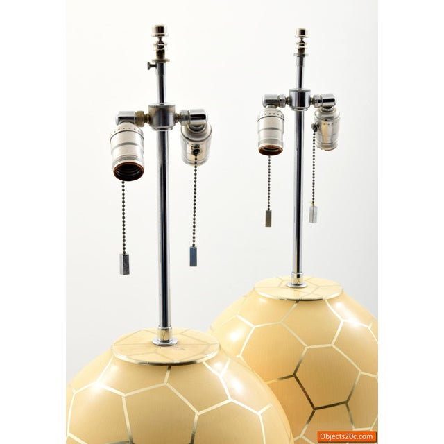 Enamel 1980s Contemporary Karl Springer Lamps - a Pair For Sale - Image 7 of 10